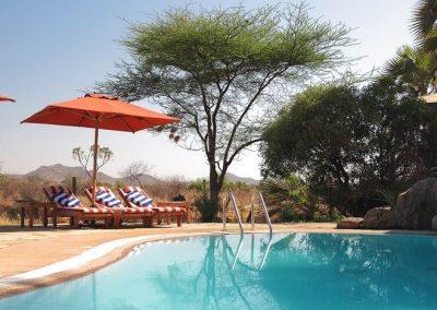 The perfect spot for a swim at Samburu Lodge