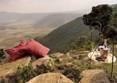 Stunning Sundowners over looking Ngorongoro Crater