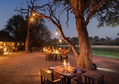 Machaba Camp - Supper is always served under the stars
